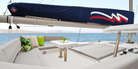 Moorings 4500L Catamaran Lounge Area