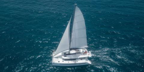 Moorings 5000 sailing