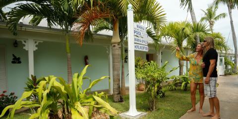 Garden area of Conch Inn Hotel