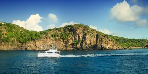 powercat underway in the BVI