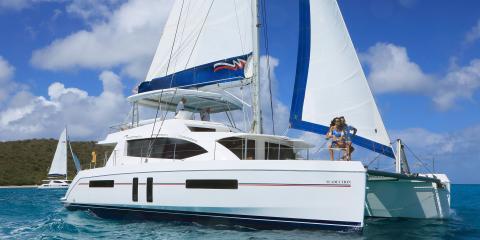 Moorings yacht underway