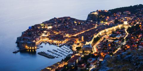 Night view of Croatia