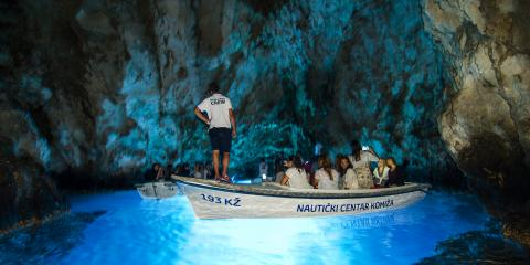 Cave exploring in Croatia