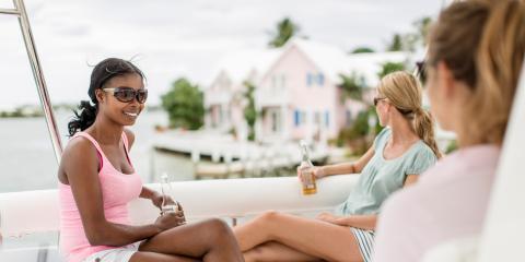 Women relaxing in Bahamas