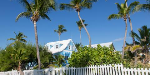 Palm trees hovering over homes