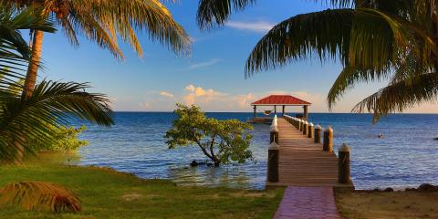 Dock view of Belize waterfront