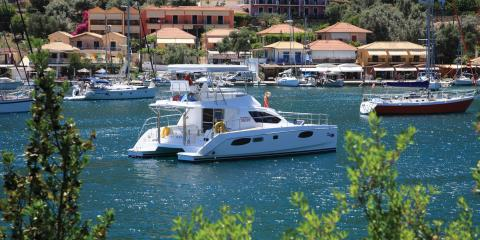 Power Catamaran sailing in Corfu