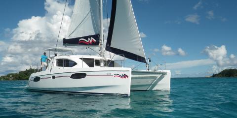 Moorings yacht sailing in Seychelles