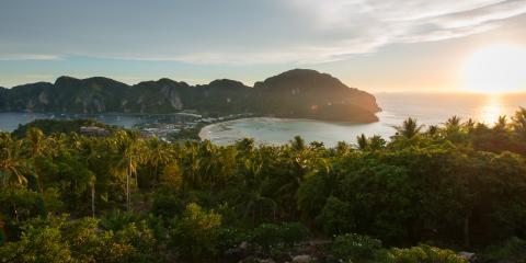 Sunset over Thailand beach