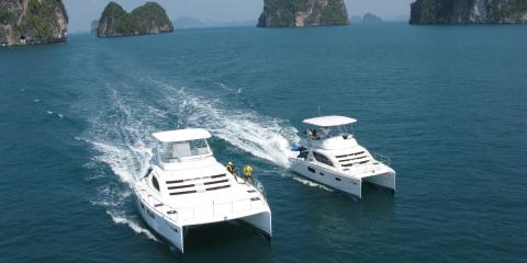 Moorings yacht sailing in Thailand