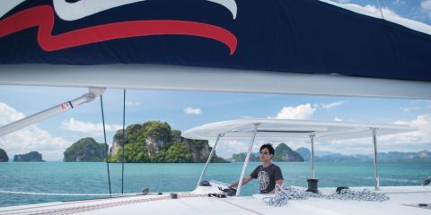 Moorings yacht sailing in Thailand