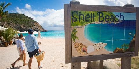Shell Beach in St Maarten