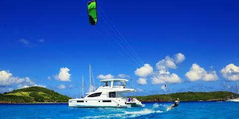 Moorings yacht underway in St. Lucia