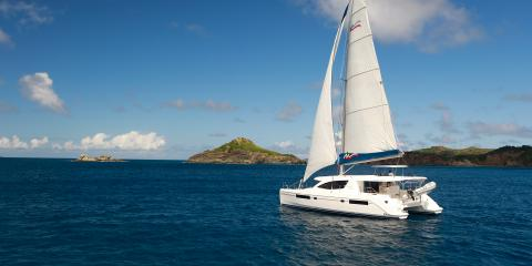 sailing catamaran in St. Martin
