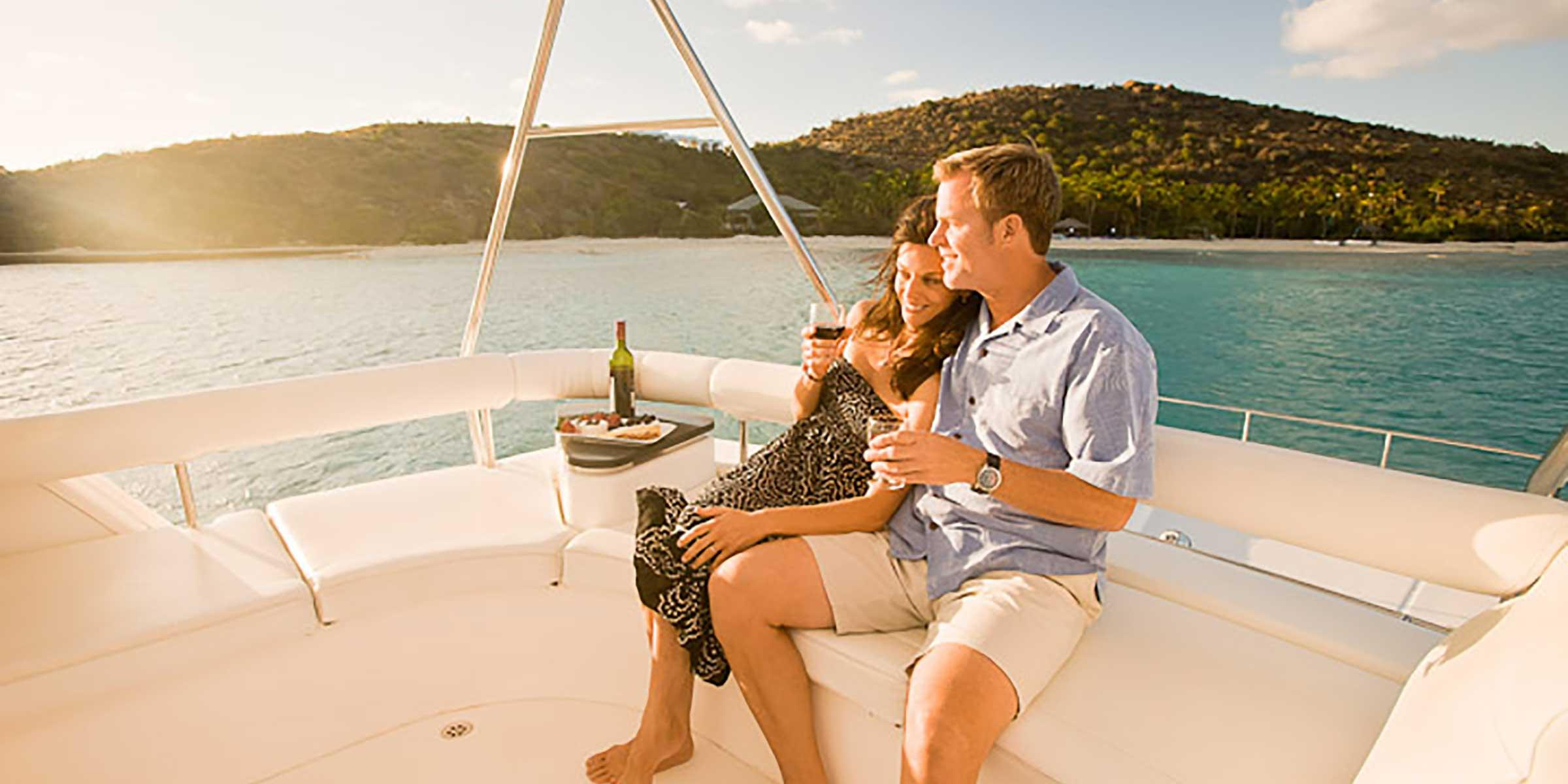 Couple on Romantic Yacht Getaway BVI