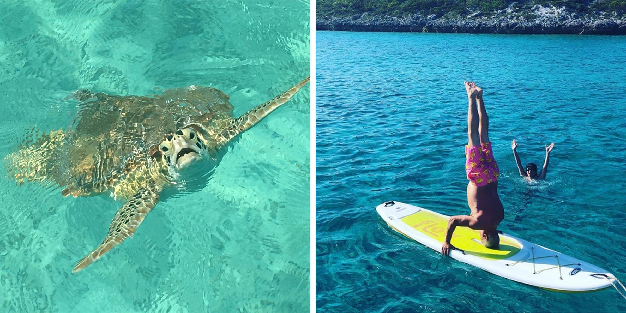Turtle spotting and water sports fun in the Exumas