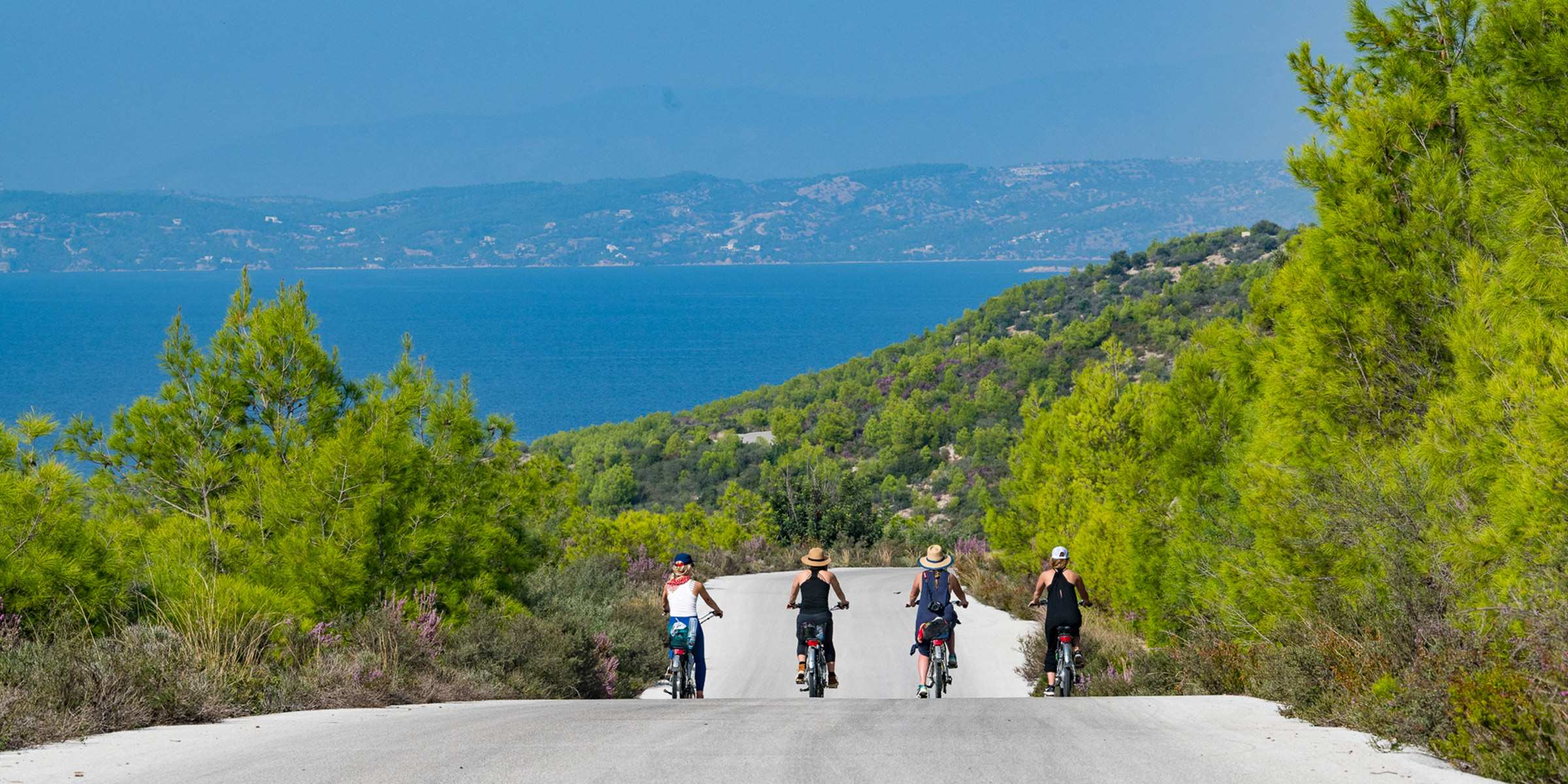 Biking in Spetses