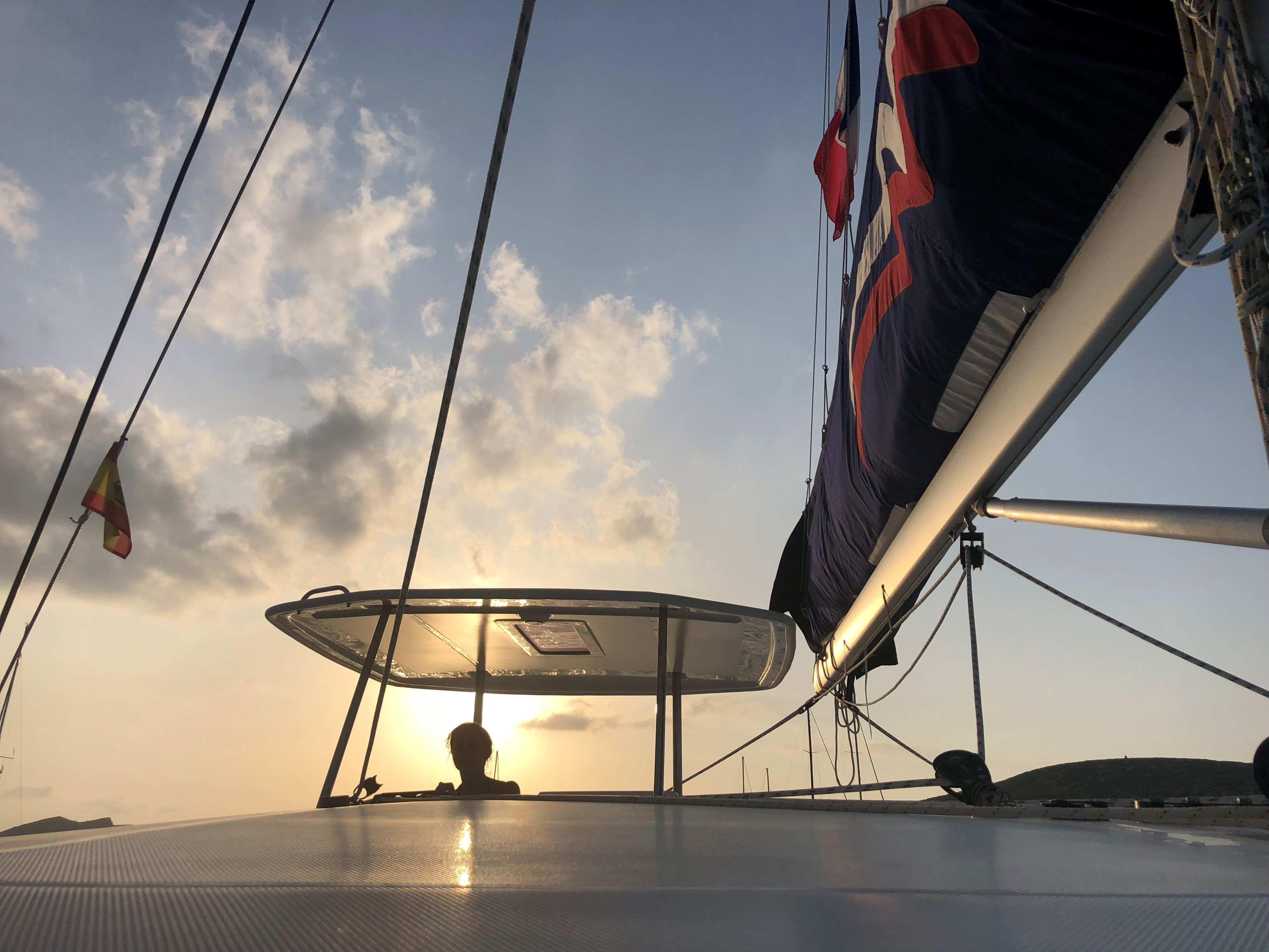 Jovita,the Moorings skipper in Palma