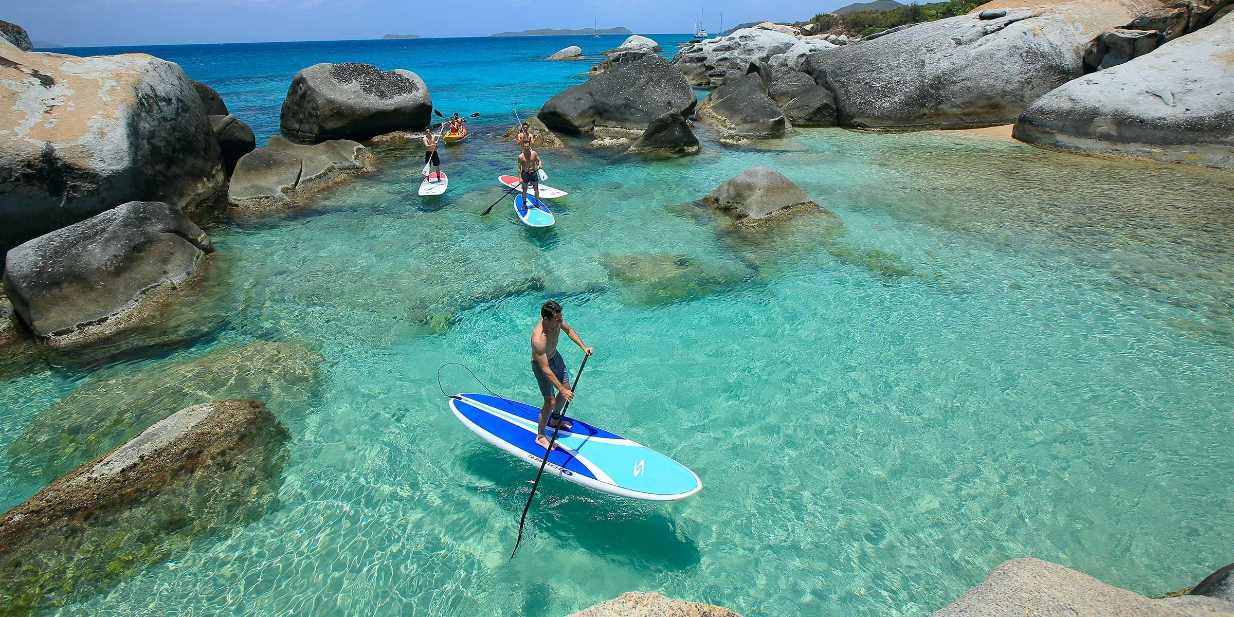 People Stand Up Paddling & Kayaking in BVI